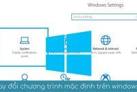 thay doi chuong trinh mac dinh tren windows 10