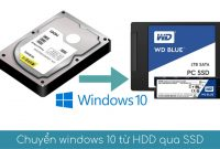 chuyen windows 10 tu hdd sang ssd